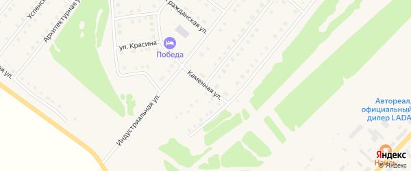 Каменная улица на карте села Месягутово с номерами домов