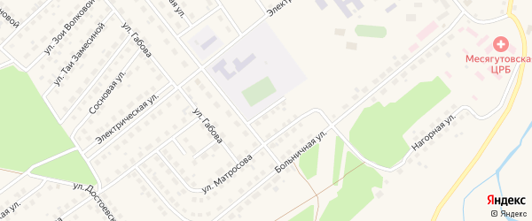 Школьный переулок на карте села Месягутово с номерами домов