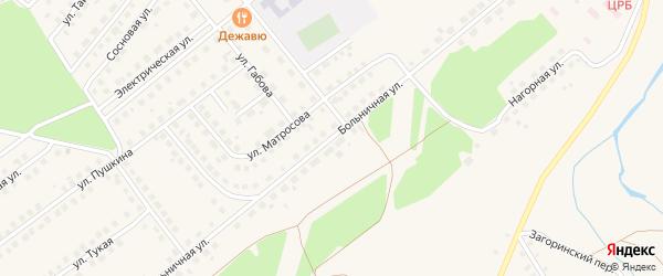 Больничная улица на карте села Месягутово с номерами домов