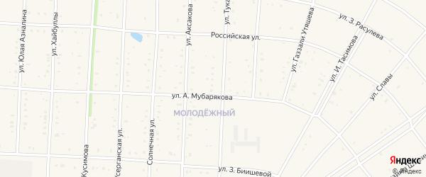 Тукая улица на карте села Акъяра с номерами домов