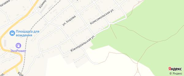 Южноуральская улица на карте Катава-Ивановска с номерами домов