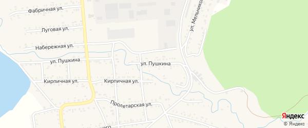 Улица Пушкина на карте Катава-Ивановска с номерами домов