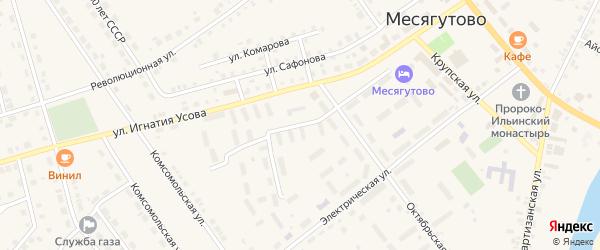 Октябрьский переулок на карте села Месягутово с номерами домов