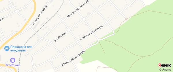 Комсомольская улица на карте Катава-Ивановска с номерами домов