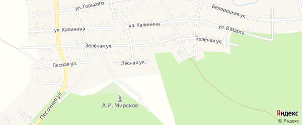 Лесная улица на карте Катава-Ивановска с номерами домов