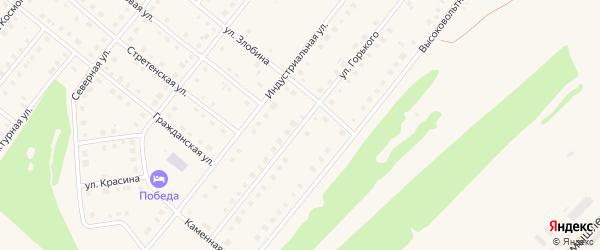 Улица Горького на карте села Месягутово с номерами домов