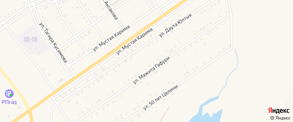 Улица Даута Юлтыя на карте села Акъяра с номерами домов