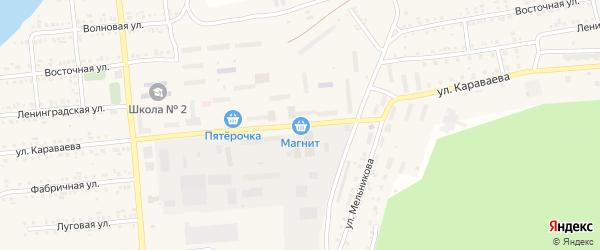 Улица Караваева на карте Катава-Ивановска с номерами домов