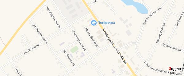 Молодежная улица на карте села Месягутово с номерами домов