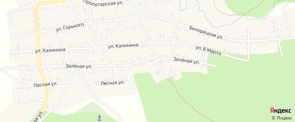 Зеленая улица на карте Катава-Ивановска с номерами домов