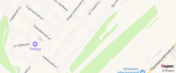Высоковольтная улица на карте села Месягутово с номерами домов