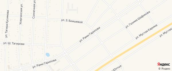 Улица Рами Гарипова на карте села Акъяра с номерами домов