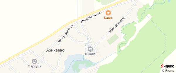 Улица Акмуллы на карте села Азикеево с номерами домов