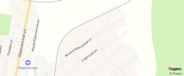 Железнодорожная улица на карте Катава-Ивановска с номерами домов