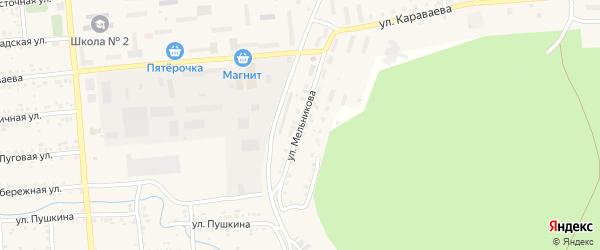 Улица Мельникова на карте Катава-Ивановска с номерами домов