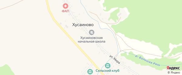 Улица Мира на карте деревни Хусаиново с номерами домов
