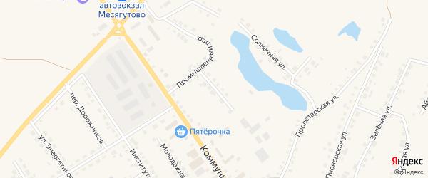 Колхозный переулок на карте села Месягутово с номерами домов