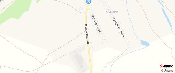 Трактовая улица на карте села Месягутово с номерами домов