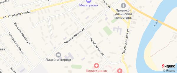 Октябрьская улица на карте села Месягутово с номерами домов