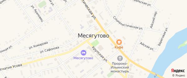 Переулок Строителей на карте села Месягутово с номерами домов