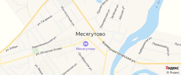 Карта села Месягутово в Башкортостане с улицами и номерами домов