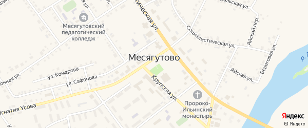 Юбилейная улица на карте села Месягутово с номерами домов