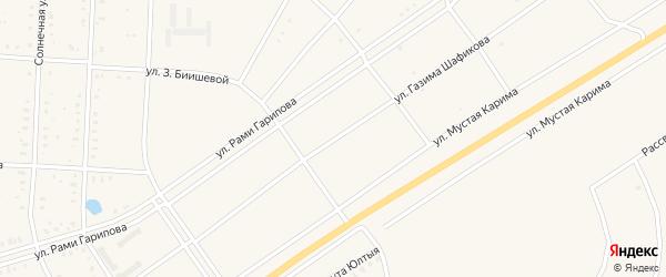 Улица Газима Шафикова на карте села Акъяра с номерами домов