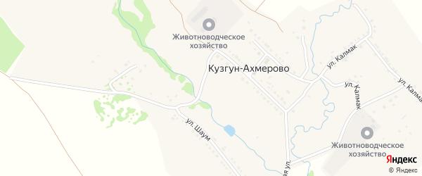 Улица Агузяк на карте деревни Кузгун-Ахмерово с номерами домов