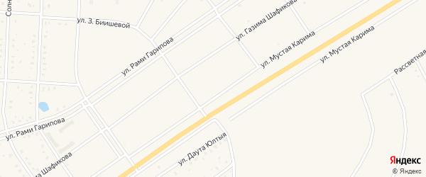Улица Мустая Карима на карте села Акъяра с номерами домов