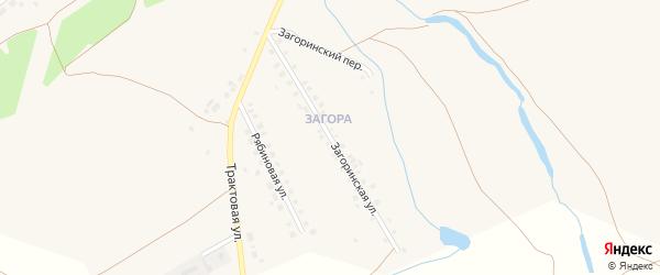 Загоринская улица на карте села Месягутово с номерами домов