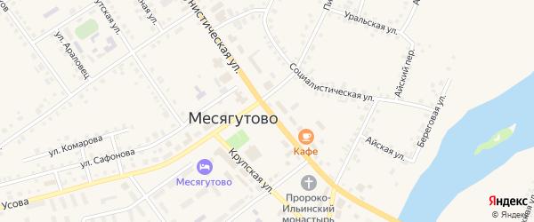 Коммунистическая улица на карте села Месягутово с номерами домов