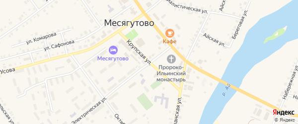 Крупская улица на карте села Месягутово с номерами домов