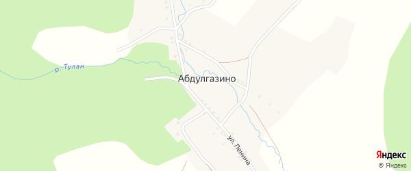 Северная улица на карте деревни Абдулгазино с номерами домов