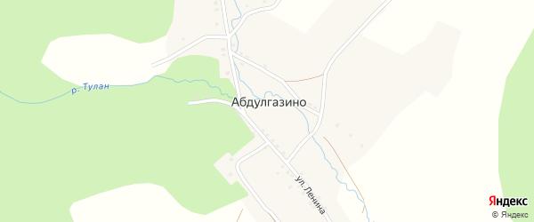 Улица 27 Партсъезда на карте деревни Абдулгазино с номерами домов