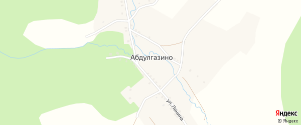 Южная улица на карте деревни Абдулгазино с номерами домов