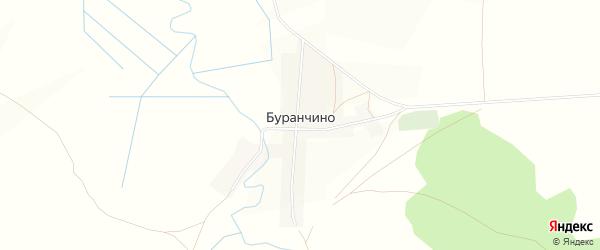 Карта деревни Буранчино в Башкортостане с улицами и номерами домов