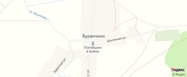 Заречная улица на карте деревни Буранчино с номерами домов