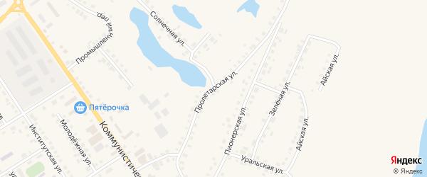 Пролетарская улица на карте села Месягутово с номерами домов