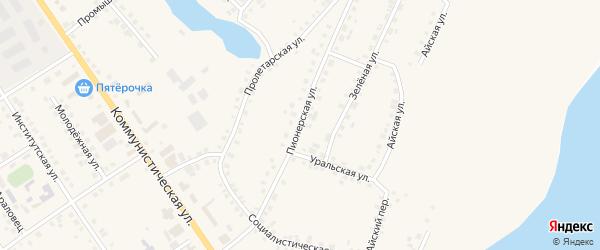 Пионерская улица на карте села Месягутово с номерами домов