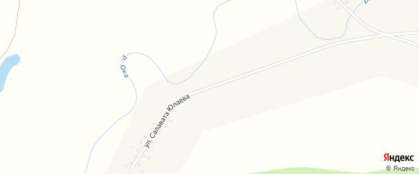 Улица Салавата Юлаева на карте деревни Азикеево с номерами домов