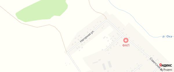 Нагорная улица на карте деревни Азикеево с номерами домов