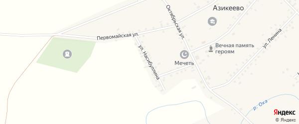 Улица Насибуллина на карте деревни Азикеево с номерами домов