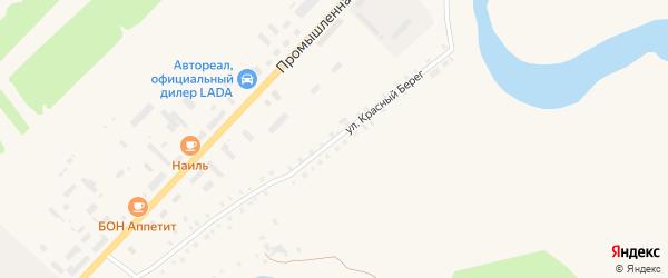 Улица Красный берег на карте села Месягутово с номерами домов