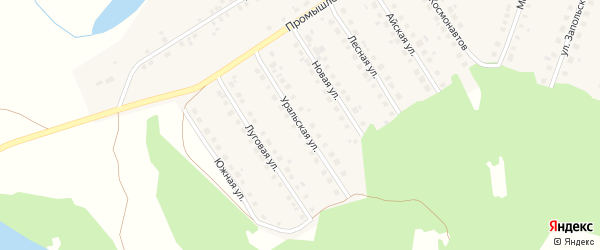 Уральская улица на карте Большеустьикинское села с номерами домов