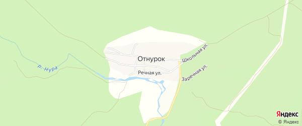 Карта села Отнурка в Башкортостане с улицами и номерами домов