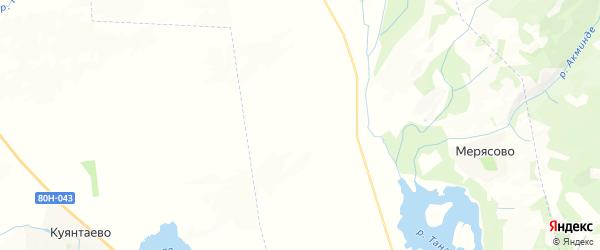 Карта Мерясовского сельсовета республики Башкортостан с районами, улицами и номерами домов
