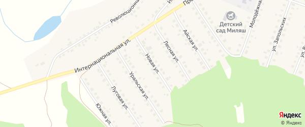 Новая улица на карте Большеустьикинское села с номерами домов