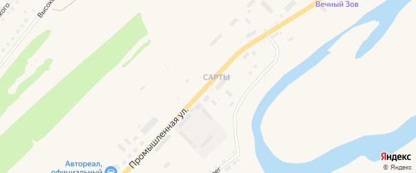 Промышленная улица на карте села Месягутово с номерами домов