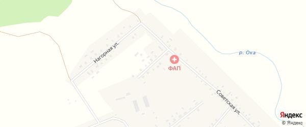 Цветочная улица на карте деревни Азикеево с номерами домов
