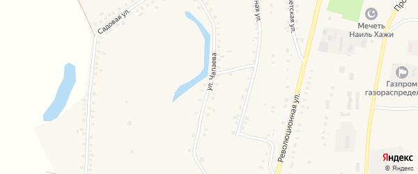 Улица Чапаева на карте Большеустьикинское села с номерами домов